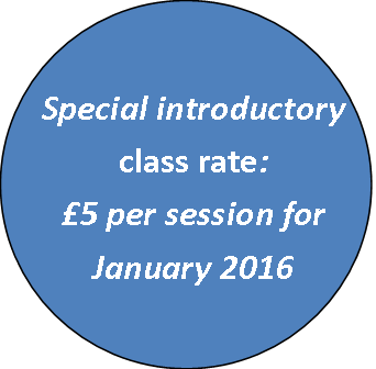 Special introductory class rate £5 per session for January