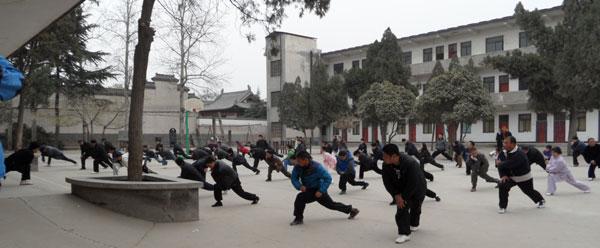 Tai Chi students, Chen Family Village