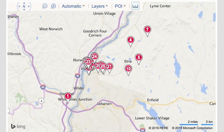 Map of Hanover Sold Properties