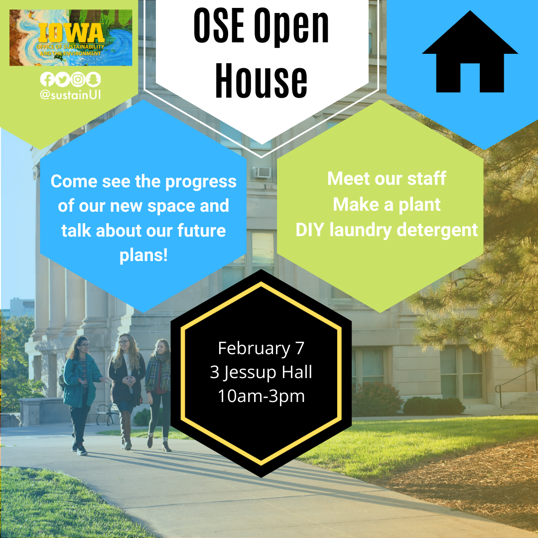 OSE Open House; February 7, 10-3, 3 Jessup Hall