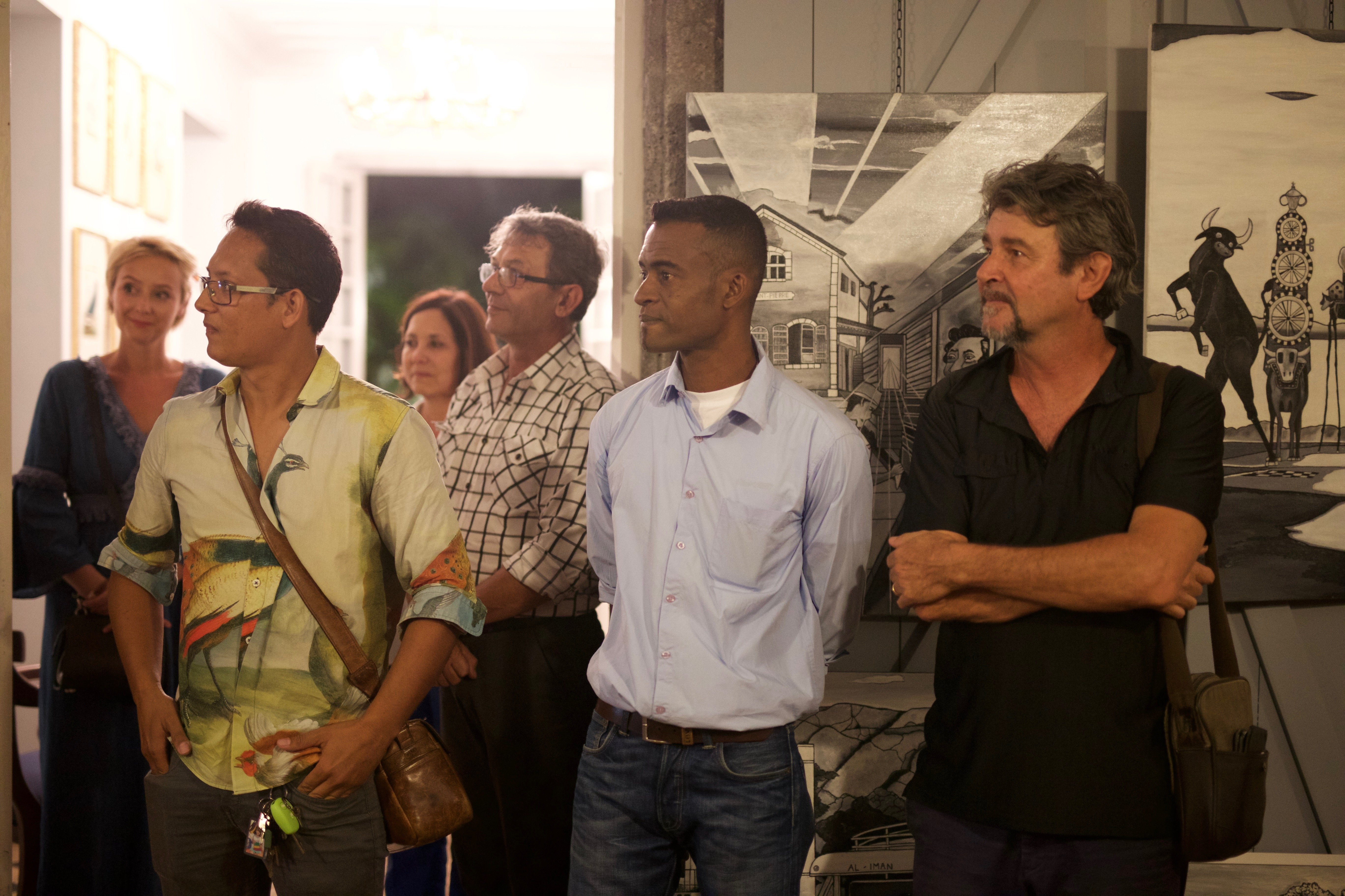De gauche à droite M. Olivier KOUE CHON LIM, M.Rivelino MAMMOSA, M.Gérard JOLY