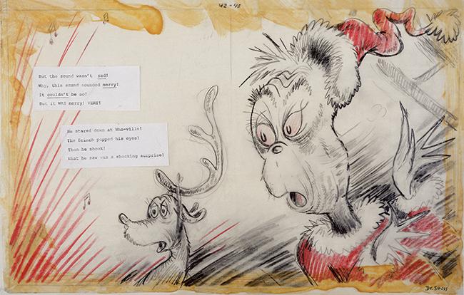 Dr. Seuss, Grinch illustration