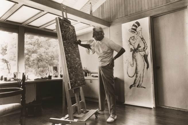 Ted, Dr. Seuss, in his studio