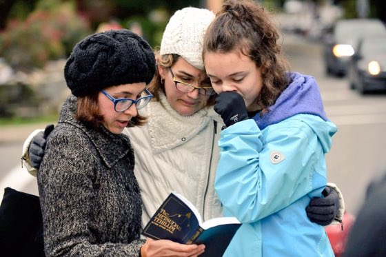 Photo from yesterday's synagogue massacre in Pittsburgh