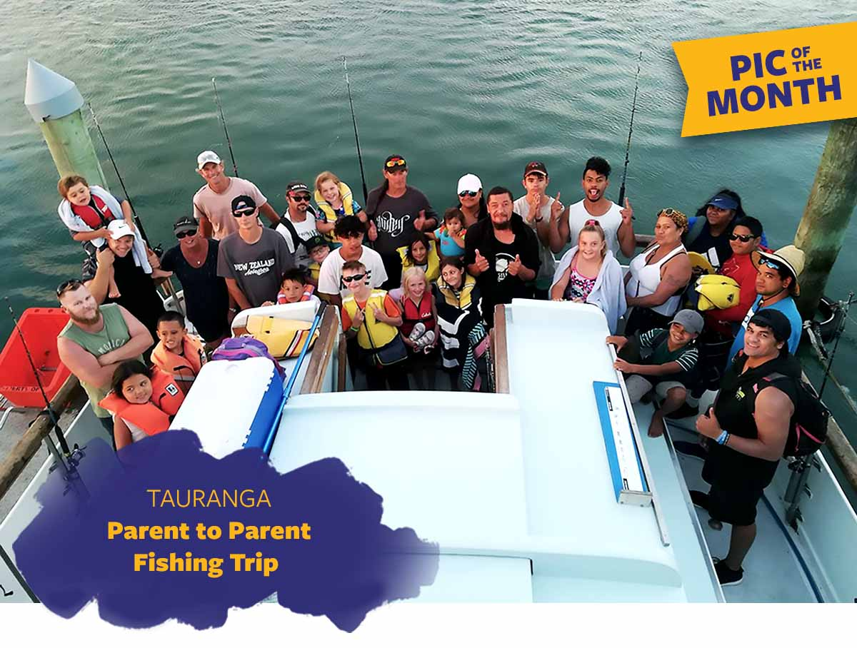 Pic of the Month - Parent to Parent Fishing Trip in Tauranga