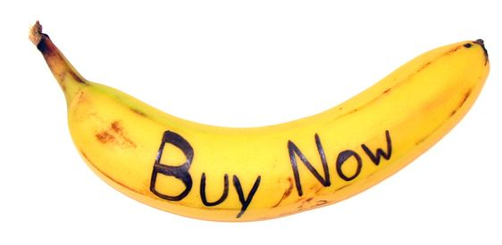 Calls to Action (CTA) - 'Buy Now' banana