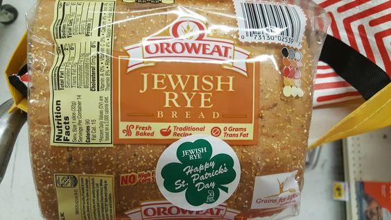 Jewish Rye - Happy St. Patrick's Day