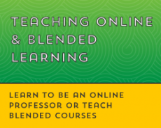 Teaching Online & Blended Learning