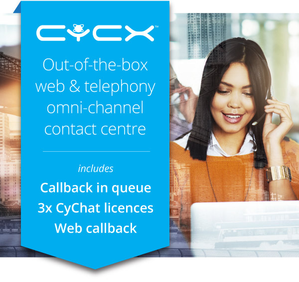 CyCX, an out-of-the-box web and telephony omni-channel contact centre