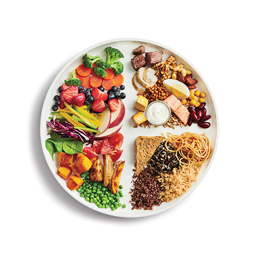 plate of healthy food options