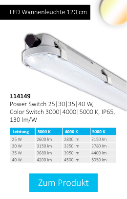LED Wannenleuchte 120 cm