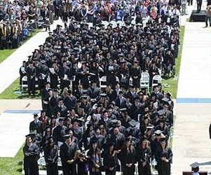 Image of JCU students on the quad at Commencement