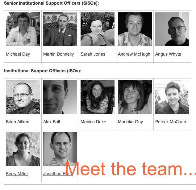 Meet the team of Senior Institutional Support Officers and Institutional Support Officers