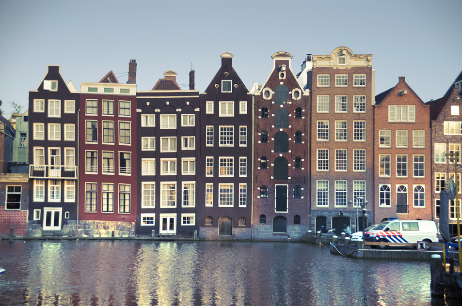 image of Amsterdam: row of houses on the canal