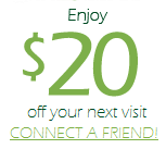 $20 off your first visit. SCHEDULE NOW!