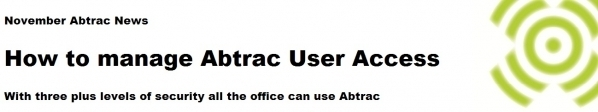 How to manage Abtrac User Access