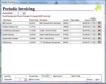 Periodic Invoicing
