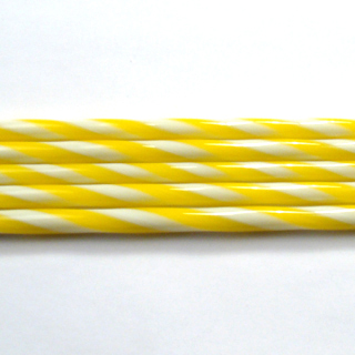 Marigold and French Vanilla Striped Cane C102