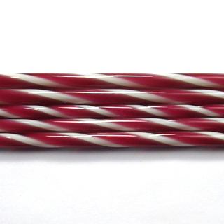 Fuscia and French Vanilla Striped Cane C108