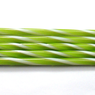 Spring Green and French Vanilla Striped Cane C110