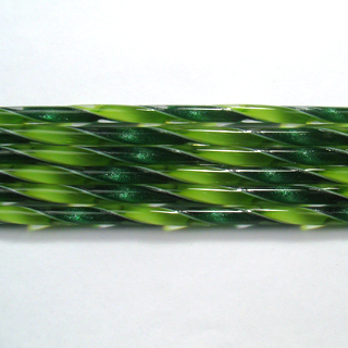 Aventurine Green and Spring Green Ribbon Cane C231