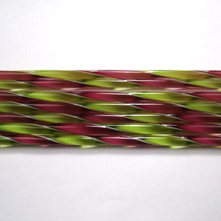 Fuscia and Spring Green Ribbon Cane C232