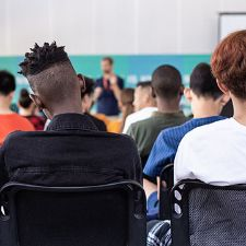 A classroom full of students