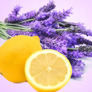Lemon lavender scented soy candle