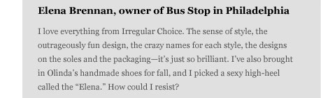 Elena Brennen, Owner of Bus Stop in Philadelphia