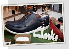 Clarks life-size shoe house.