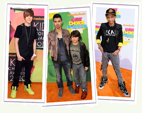 Justin Bieber, Nolan Jonas and Jaden Smith