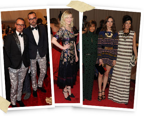 Viktor & Rolf designers, Kirsten Dunst in Chanel Haute Couture, a collection of Marni.