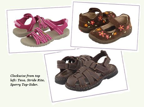 Teva, Stride Rite and Sperry Top-Sider.