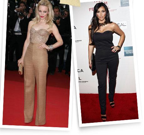 Rachel McAdams and Kim Kardashian