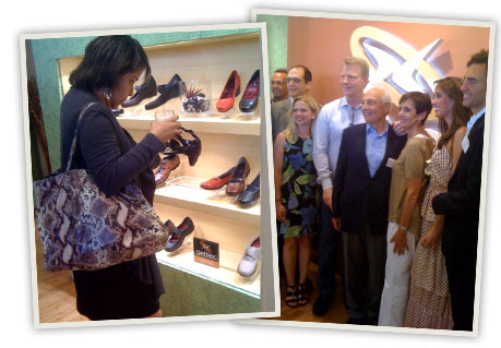 Fashion journalists snapped up their favorites. The Aetrex team was on hand to answer questions.