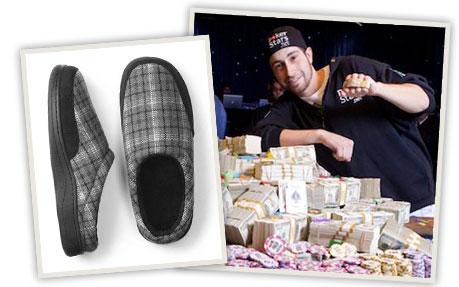 Jonathan Duhamel won last year's WSOP tournament--and $9 million--wearing flip-flops.