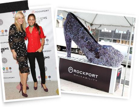 Annabel Tollman and Dylan Lauren wearing Rockport's Janae Pumps.