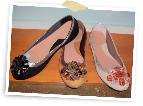 Crystal-embellished flat by Bacio 61.