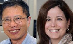 Portraits of Dr. Wei Zheng and Angie Cruz-Albertorio