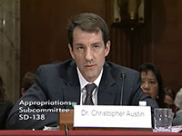 Dr. Austin testifies at Senate Appropriations Hearing
