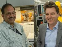 Portraits of Drs. Balakrishnan and Hall