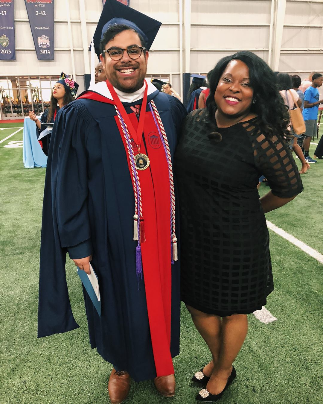 White (R) with former CICCE graduate assistant Edwin Bynoe