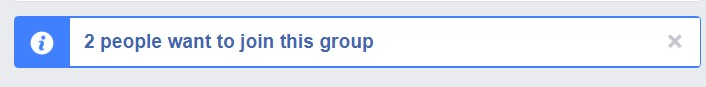Facebook Group join request notification seen by Admins