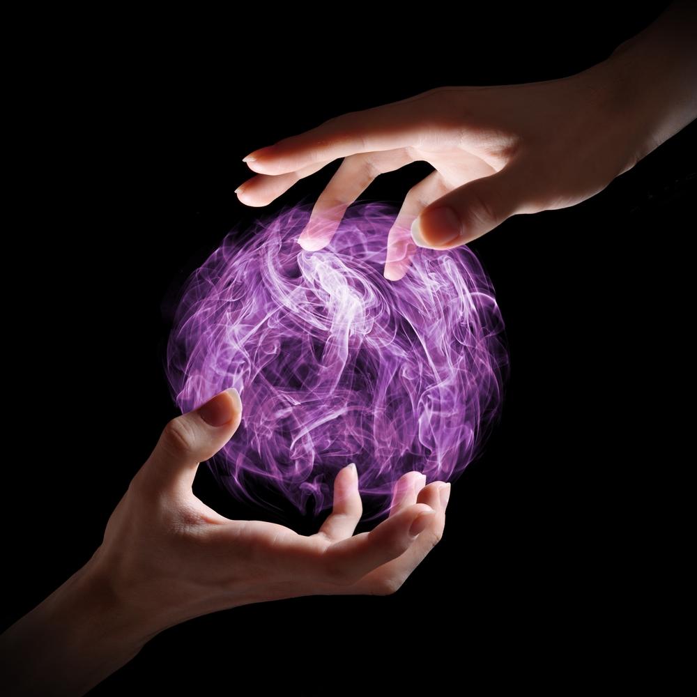 energy between hands