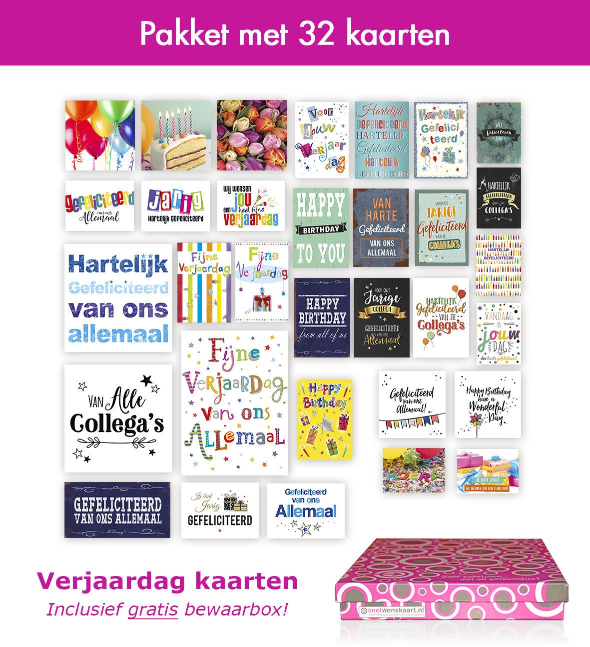 Verjaardagskaartenpakket bij Snelwenskaart.nl