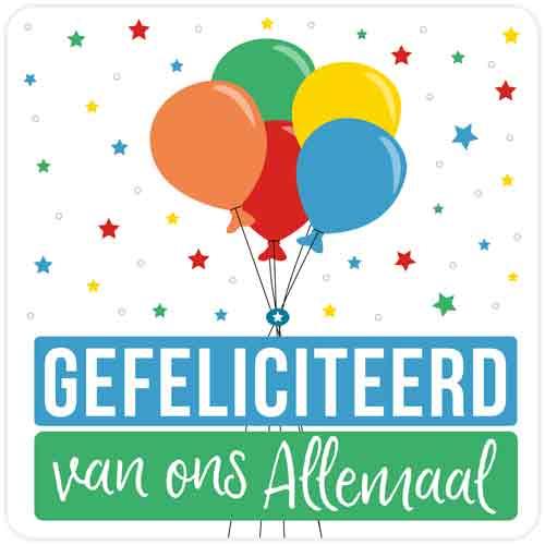 Happy - Gefeliciteerd van ons allemaal - Snelwenskaart.nl