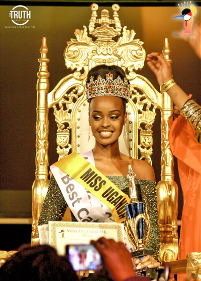 Miss Bridget Katungi emerged as the winner on the night.
