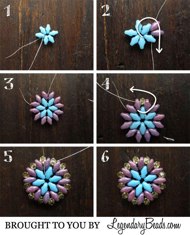 Summer Medallion Instructions free bead jewelry tutorial, DIY instructions