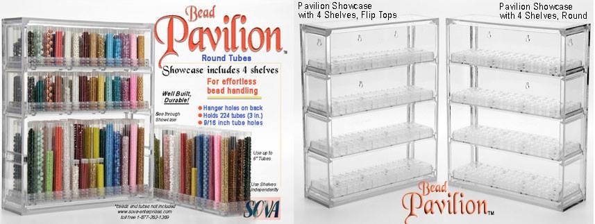 Bead Pavilion - Showcase & 4 Shelves
