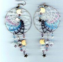 Fancy Fringed Shawl Earrings or Pendant - Item Number 12457